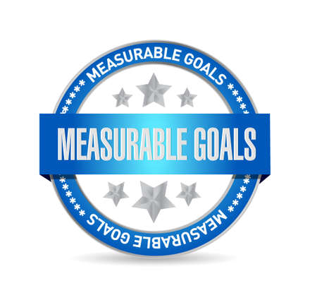 measurable: measurable goals seal sign concept illustration design graphic