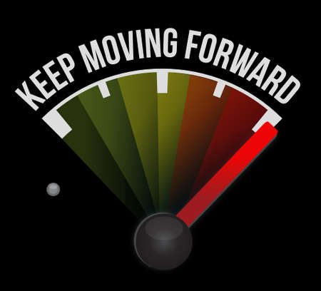 keep moving forward meter sign concept illustration design graphic