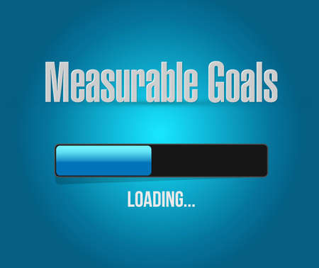 measurable: measurable goals loading bar sign concept illustration design graphic