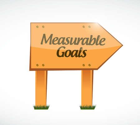 accomplishes: measurable goals wood sign concept illustration design graphic