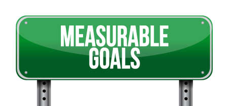 measurable goals horizontal sign concept illustration design graphic