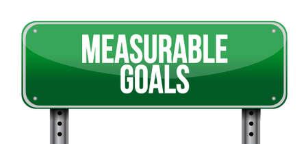 accomplishes: measurable goals horizontal sign concept illustration design graphic