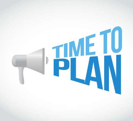 plotting: time to plan loudspeaker text message illustration design Illustration
