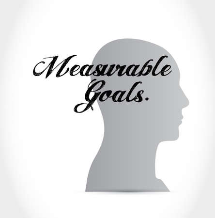 accomplishes: measurable goals thinking brain sign concept illustration design graphic