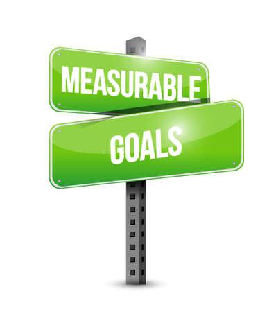accomplishes: measurable goals street sign concept illustration design graphic Illustration