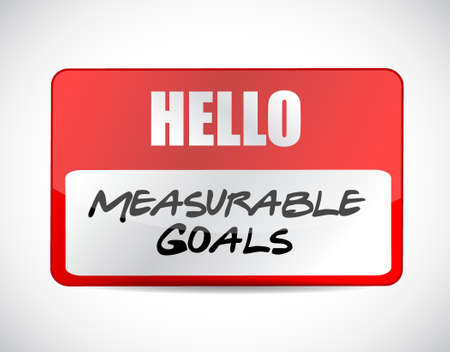 accomplishes: measurable goals name tag sign concept illustration design graphic