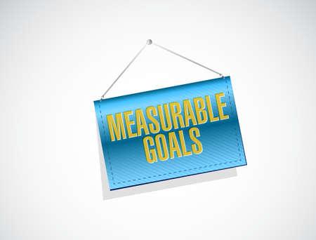 accomplishes: measurable goals banner sign concept illustration design graphic