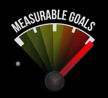 accomplishes: measurable goals meter sign concept illustration design graphic