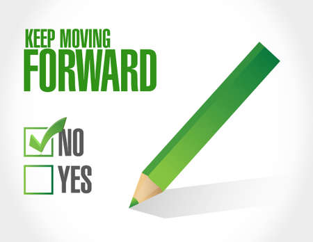 colour pencil: no keep moving forward approval sign concept illustration design graphic