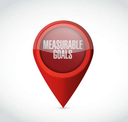 measurable: measurable goals pointer sign concept illustration design graphic Illustration