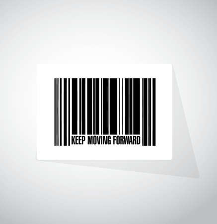keep moving forward barcode sign concept illustration design graphic