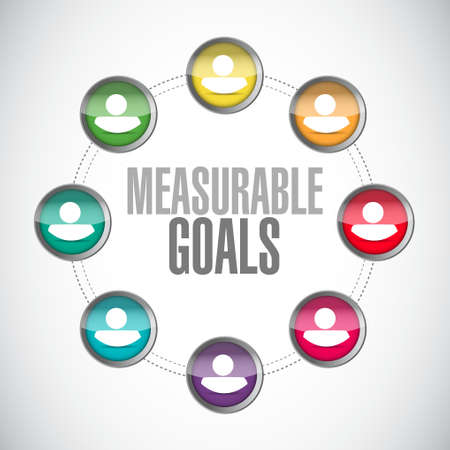measurable: measurable goals people sign concept illustration design graphic