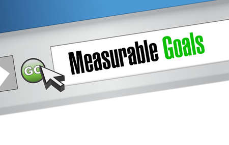 accomplishes: measurable goals website sign concept illustration design graphic