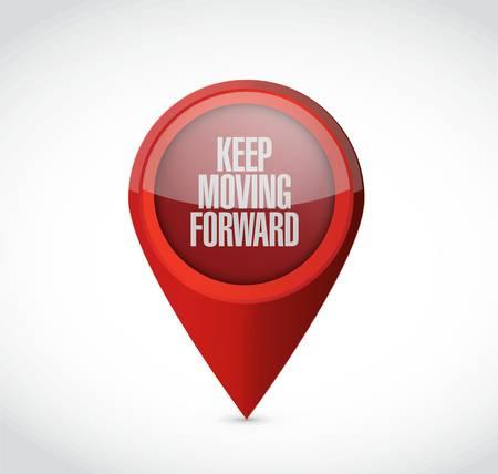 perseverance: keep moving forward pointer sign concept illustration design graphic Illustration