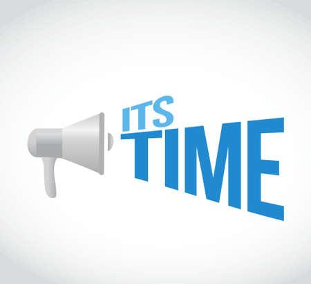 its time loudspeaker text message illustration design Векторная Иллюстрация