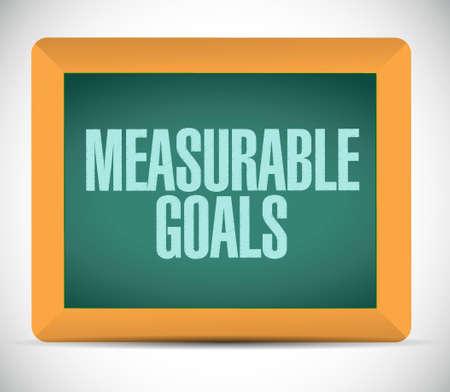accomplishments: measurable goals chalkboard sign concept illustration design graphic