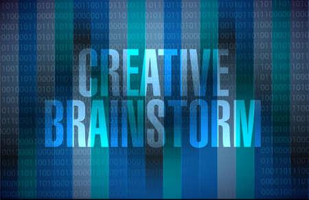 binary background: Creative Brainstorm binary background sign concept illustration design graphic
