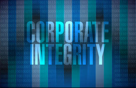 binary background: Corporate integrity binary background sign concept illustration design graphic