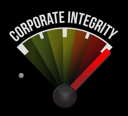 ideology: Corporate integrity meter sign concept illustration design graphic Illustration