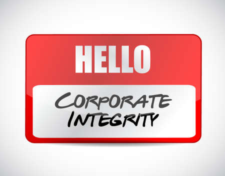 Corporate integrity name tag sign concept illustration design graphic Ilustracja