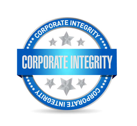 Corporate integrity isolated seal sign concept illustration design graphic Ilustração