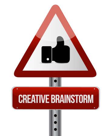 Kreacja Brainstorm jak znak koncepcji ilustracji Graphic Design Ilustracje wektorowe