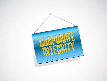 hanging banner: Corporate integrity isolated hanging banner sign concept illustration design graphic