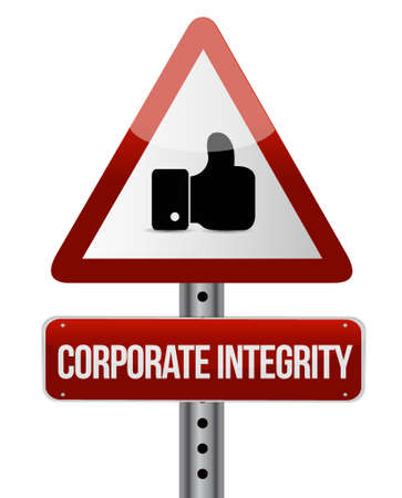 Corporate integrity isolated like sign concept illustration design graphic Illustration