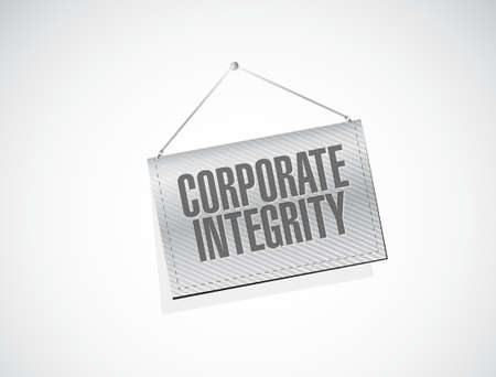 moral: Corporate integrity banner sign concept illustration design graphic Illustration