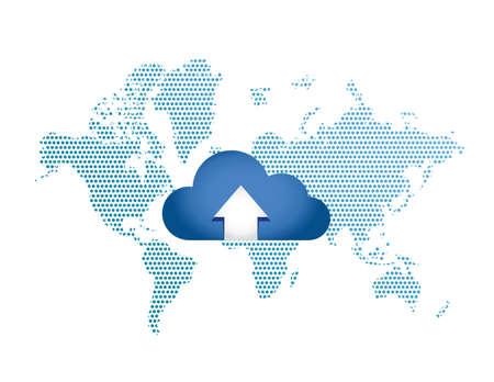 globalization: Cloud Computing Globalization Connection concept illustration design graphic Illustration