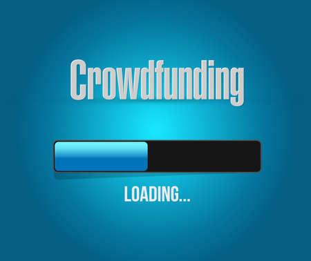 break joints: Crowdfunding Money Business loading bar illustration design graphic