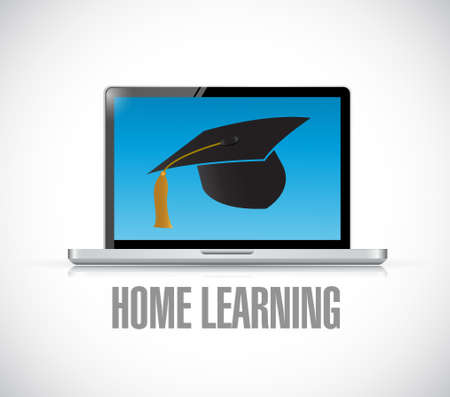 african descent: Home Learning Web concept illustration design graphic