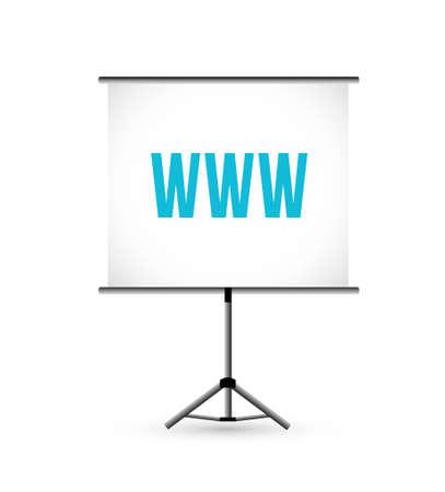 Online Presentation icon board illustration design graphic Illustration