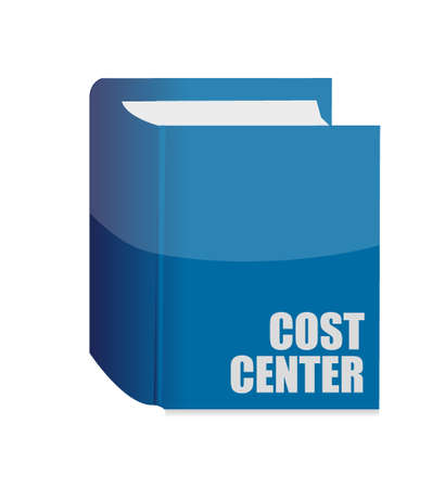 finance department: cost center book illustration concept design graphic isolated white Illustration