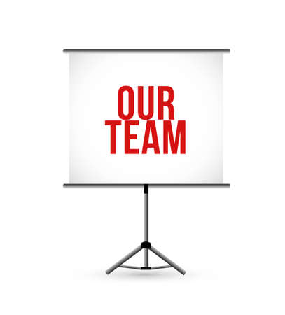 our team presentation board illustration design graphic isolated over white