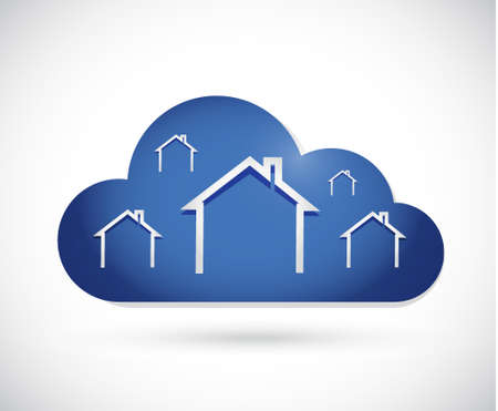 homes: residential cloud concept illustration design graphic. smart homes