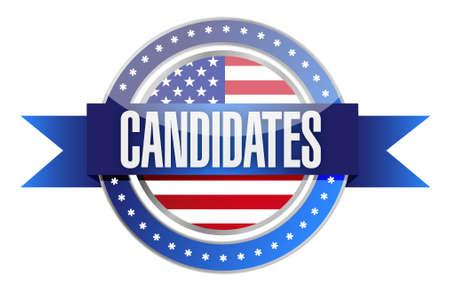 candidates: candidates seal illustration design over a white background Illustration