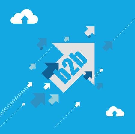 business to business destination arrows illustration concept design background