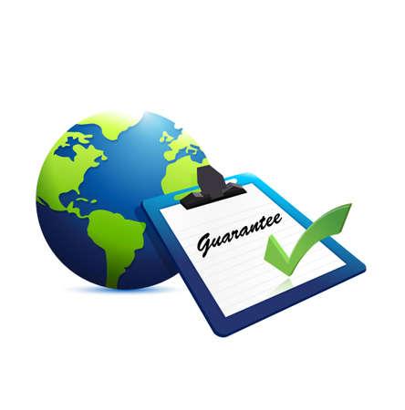 international guarantee concept illustration design graphic over white
