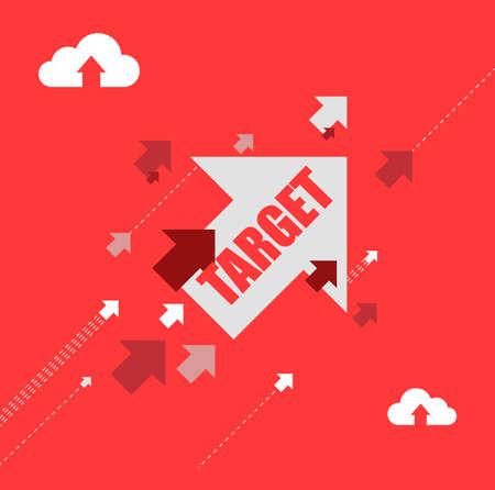 target destination arrows illustration concept design background Illustration