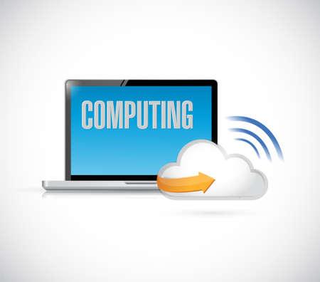 pad: cloud computing computer concept illustration design graphic. isolated graphic Illustration