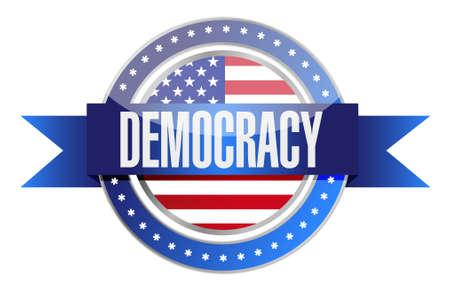 democracy: us democracy seal illustration design graphic over white Illustration