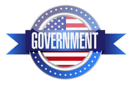 government: us government seal illustration design graphic over white
