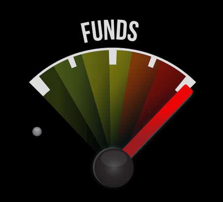 fund meter illustration design over a black background Stock Photo