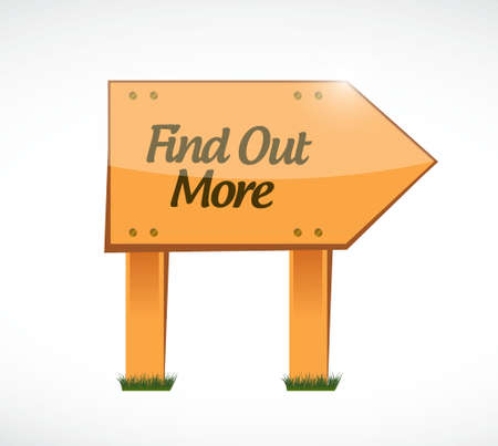 find out: find out more wood sign concept illustration design graphic Illustration