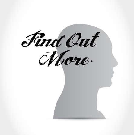 realize: find out more mind sign concept illustration design graphic