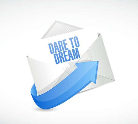 dare: dare to dream mail sign concept illustration design graphic
