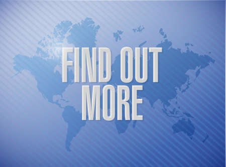 seeking an answer: find out more world map sign concept illustration design graphic Illustration
