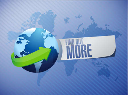 find out: find out more global sign concept illustration design graphic