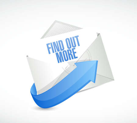 realize: find out more email sign concept illustration design graphic